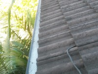 Cleaned gutters after being worked on by AGC Roof Maintenance